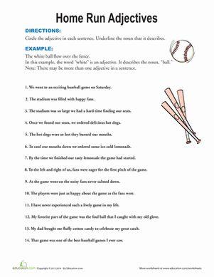 Worksheets Predicate Adjective Worksheet 1000 images about education on pinterest 1st grades algebra spring second grade grammar worksheets find the adjectives worksheet