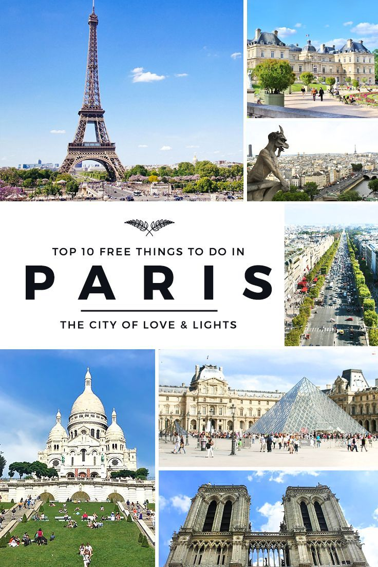 Paris is one of the world's most expensive cities, but your trip doesn't need to be pricey. For starters, here are the top 10 FREE things to do in Paris!   via http://iAmAileen.com/free-things-to-do-in-paris-france/ #travel #Paris