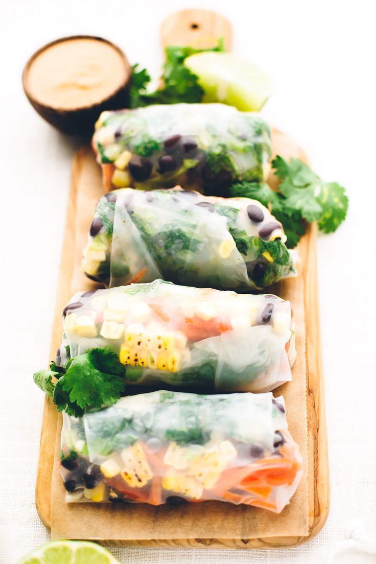 Southwest Vegan Spring Rolls with Smoky Chipotle Sauce - Blissful Basil | Healthy Plant-Based Vegan Recipes & Wellness Tips