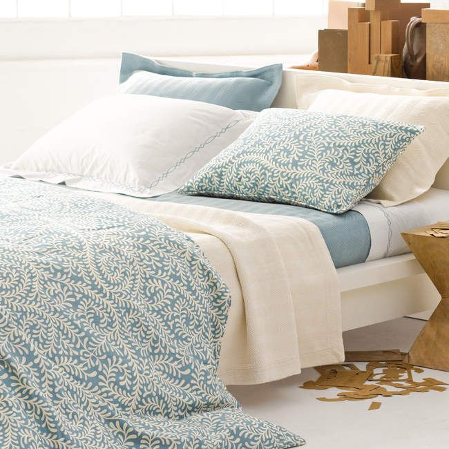 District17: Herringbone Ivory Matelasse Coverlet: Quilts & Coverlets