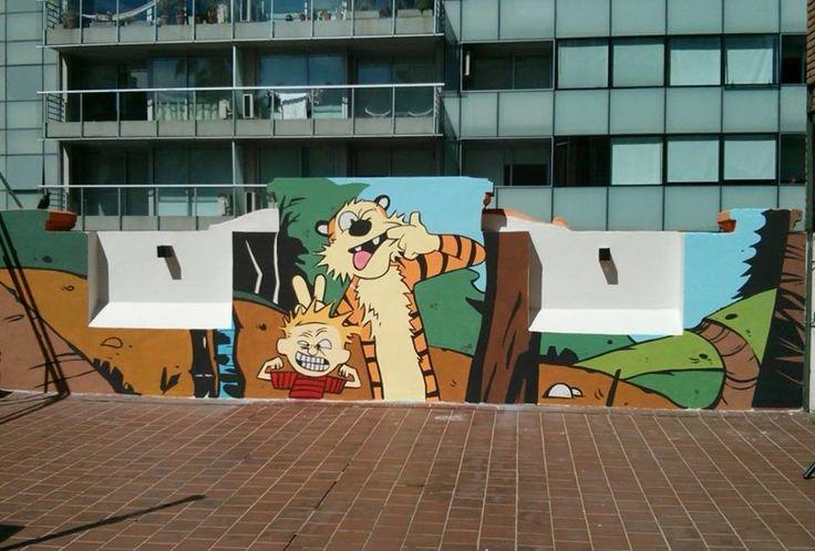 The XGAIAX Inspiration Wall - Calvin & Hobbes Mural.