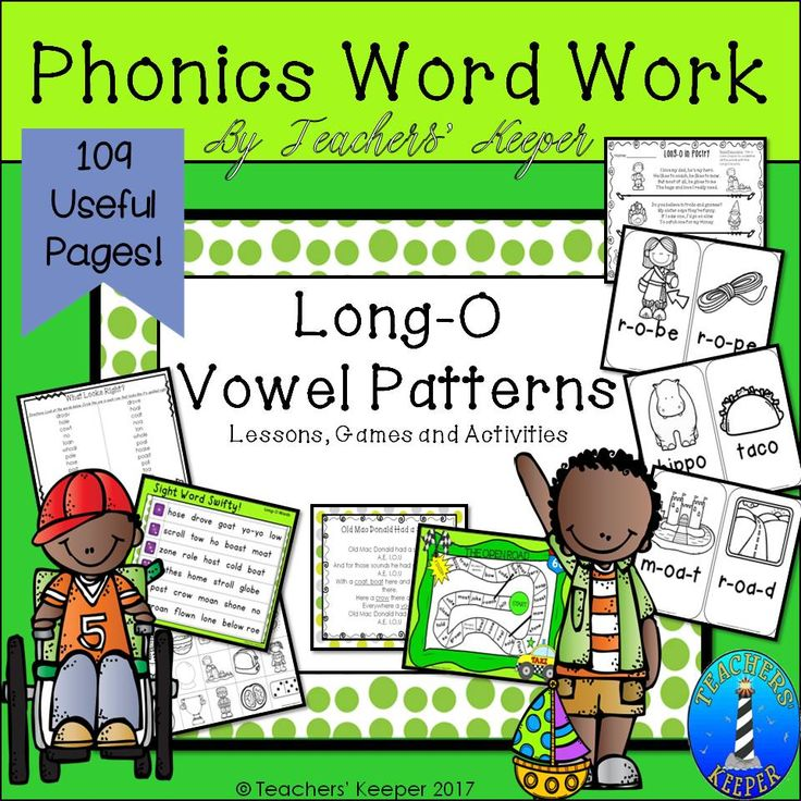 Lesson Plans, Activities, and Games: This resource focuses on the Long-O sound. Use the items within to teach, reinforce, and practice the skills of reading and spelling words with the Long-O sound with your primary students and those older students who might need interventions.