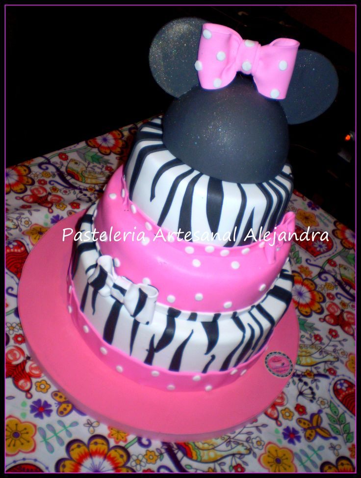 torta minnie animal print
