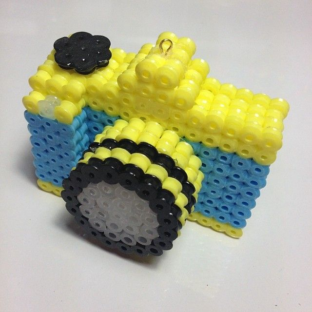 3D Camera perler beads by sweetpixyshop