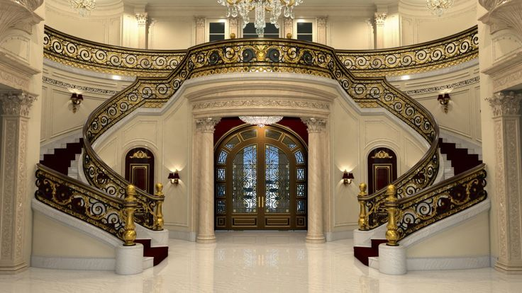 100s of Staircase Design Ideas  http://www.pinterest.com/njestates/staircase-ideas/ …  Thanks to http://www.NJEstates.net/ Upon entering, you'll see a $2 million marble staircase with a steel-iron railing and gold leafing. The staircase alone took more than two years to construct.