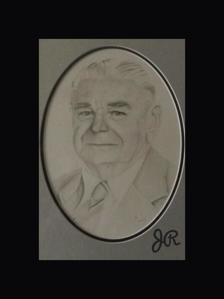 This drawing I did of my husbands grandfather.