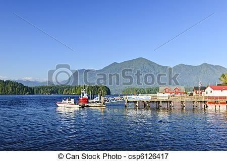 Stock Foto - bootjes, dok, Tofino, Vancouver, eiland, Canada - stock beelden, beelden, royalty-vrije foto, stock foto's, stock fotografie, stock fotografieën, beeld, beelden, grafiek, grafieken