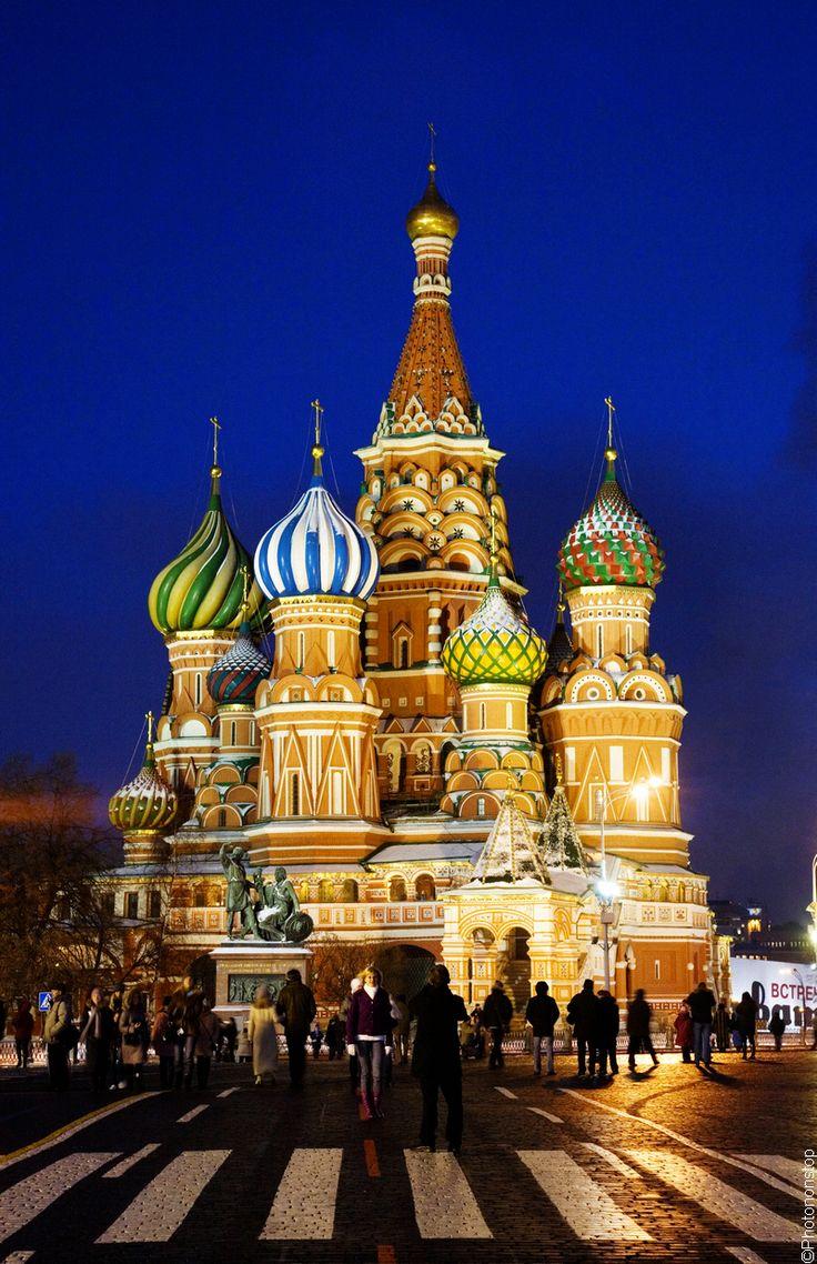 Week-end culturel à Moscou - La Place Rouge et la Cathédrale Saint-Basile-le-Bienheureux, Russie (Saint Basil's Cathedral, Red Square, Moscow, Russia)