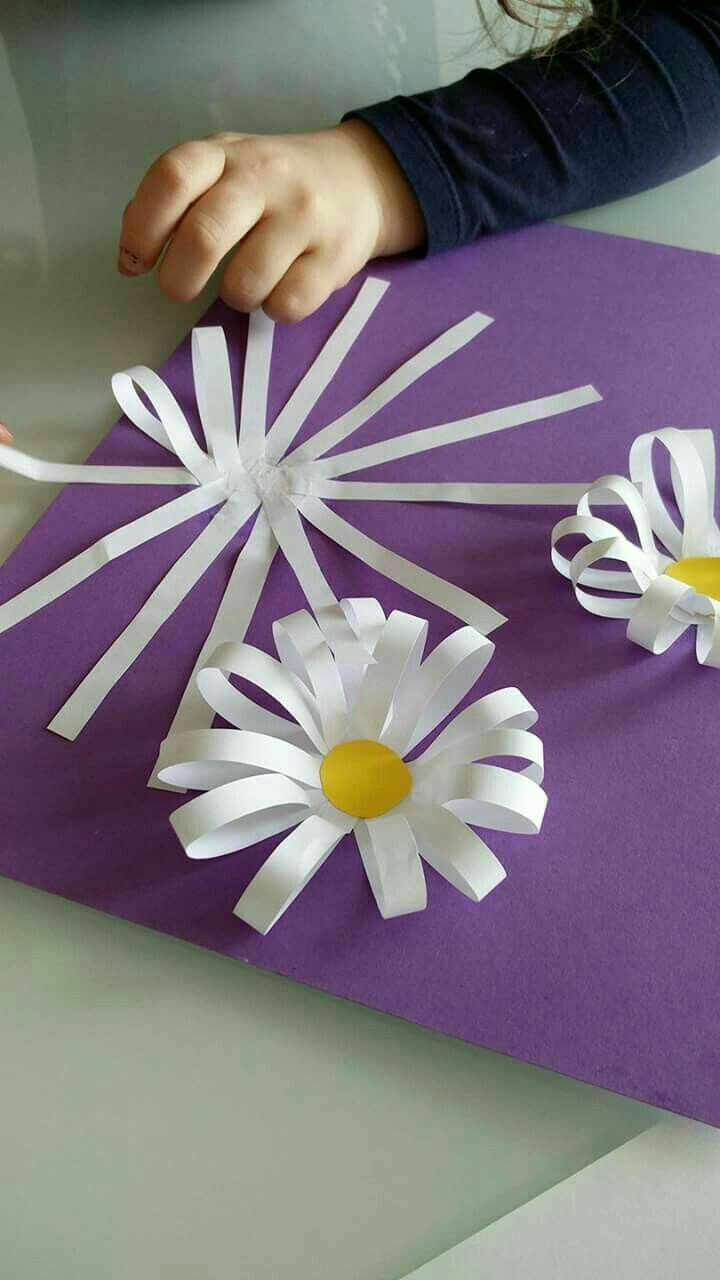 Fleurs en papier : collage