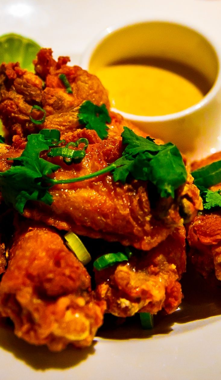 Thai Spiced Crispy Chicken Wings - menu item at 38º North Lounge, Fairmont Sonoma Mission Inn and Spa,  #ad #sponsored (California wine country lodging, hotel)
