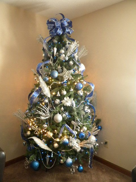 Blue & Silver Custom Tree