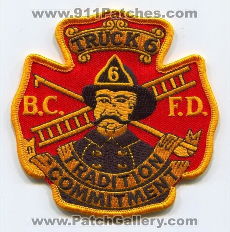 Baltimore City Fire Department BCFD Truck 6 Patch Maryland MD - SKU231