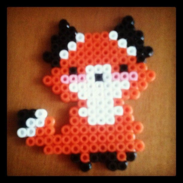 Fox hama beads by patripaaa