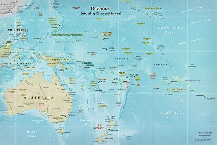 South Pacific map