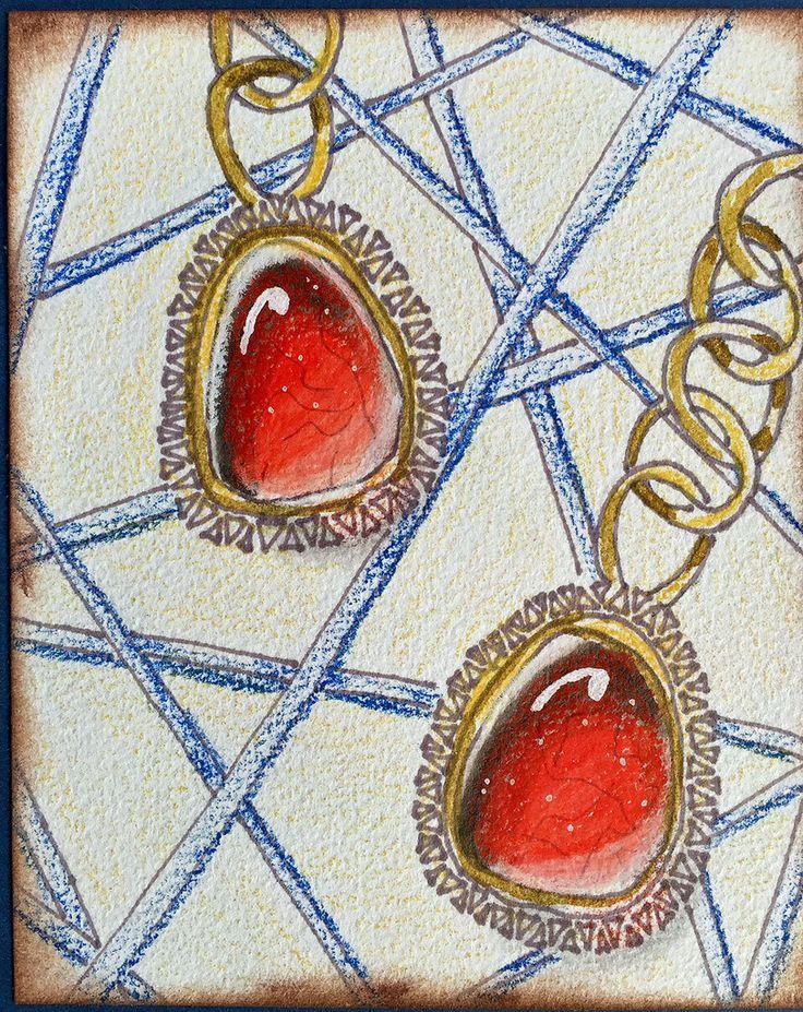 https://flic.kr/p/EZqNnR | Gems colored pencil | Details: tanglestreet.blogspot.com/2016/03/zentangle-some-gems-yum...