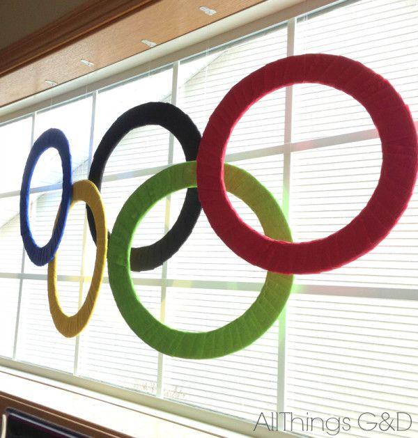 Winter Olympics Party - DIY Olympic Rings | www.allthingsgd.com