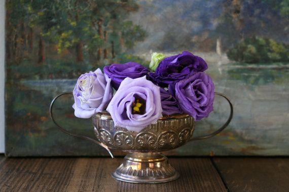 Trophy Shape Sugar Bowl Ornate Decorated Pot Silver by FoundByHer