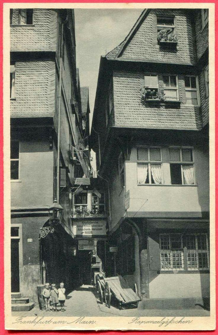 FRANKFURT RAPUNZELGAESSCHEN , UM 1910
