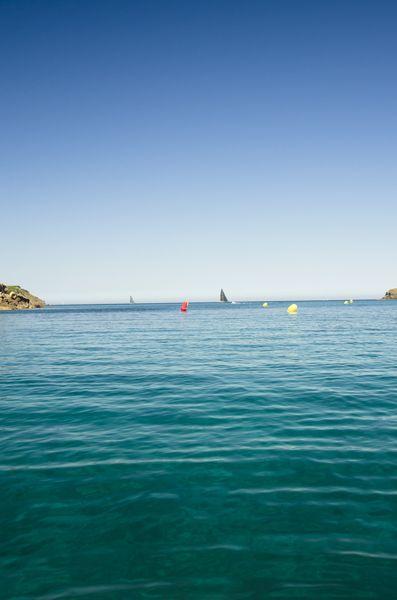 Turquoise sea at Es Grau