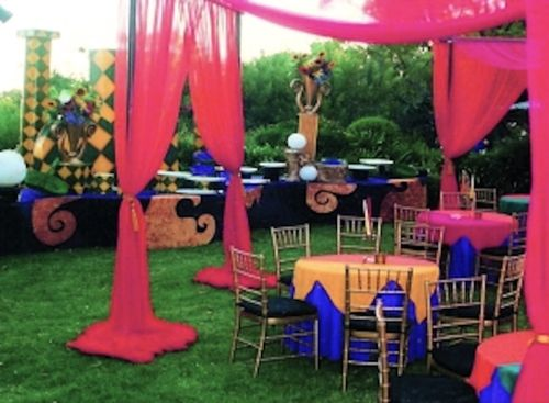 Creative garden for Ringo Starr's wife's 50th birthday party - LA www.designiq.design