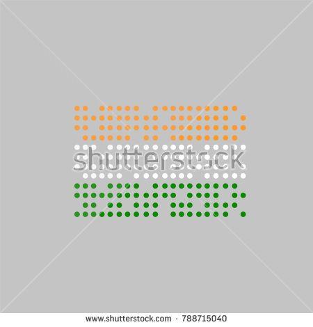 national flag India . dot icon vector