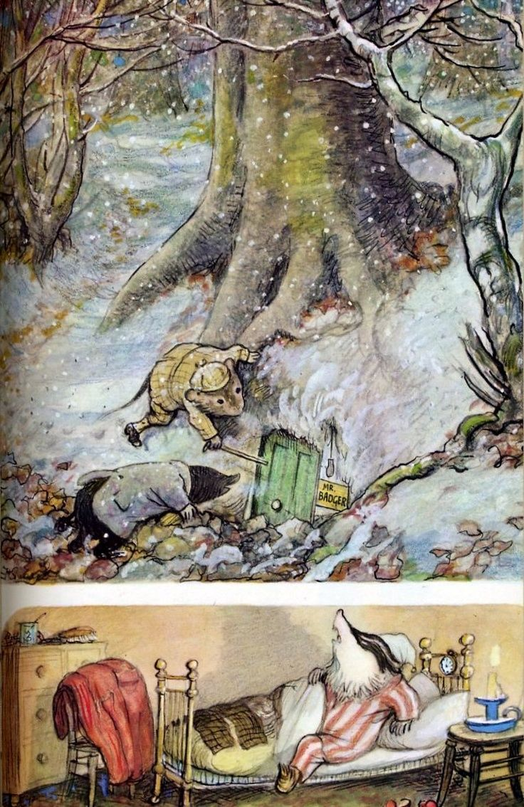 E.H. Shepherd-The Wind in the Willows.  One of my favourite books as a child.