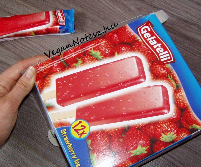 VeganNotesz.hu - vegán receptek, terméktesztek: Gelatelli Strawberry Ice Lollies - vegán epres jégkrém a Lidl-ben