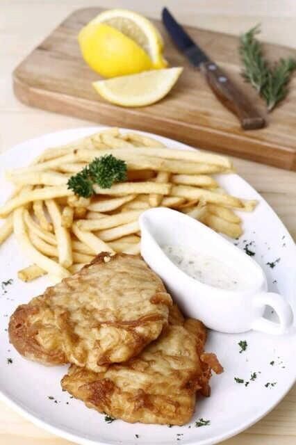 "Try our ""Fish & Chips""! Stark Beer-battered fish fillet served with french fries and tartar sauce. Super delicious! More info here https://twitter.com/stark_beer"