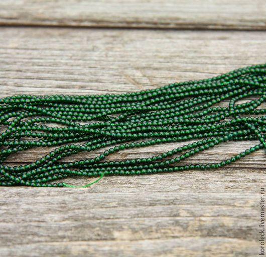 Для украшений ручной работы. Ярмарка Мастеров - ручная работа. Купить Авантюрин зеленый, бусины-шарики 2,5 мм, нить 39 см.. Handmade.
