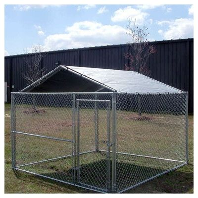 10' x 10' Low Pitch Kennel Cover