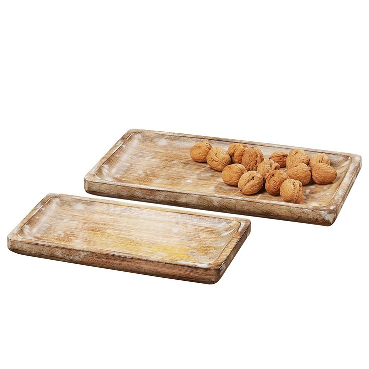 Deko-Tablett Bornholm (2-teilig) - Mango massiv, Eva Padberg Collection Jetzt bestellen unter: https://moebel.ladendirekt.de/dekoration/aufbewahrung/schalen/?uid=91f60358-5791-5fc9-931f-a5c4d3cdb2cf&utm_source=pinterest&utm_medium=pin&utm_campaign=boards #accessoires #dekoschalen #aufbewahrung #dekoration #schalen