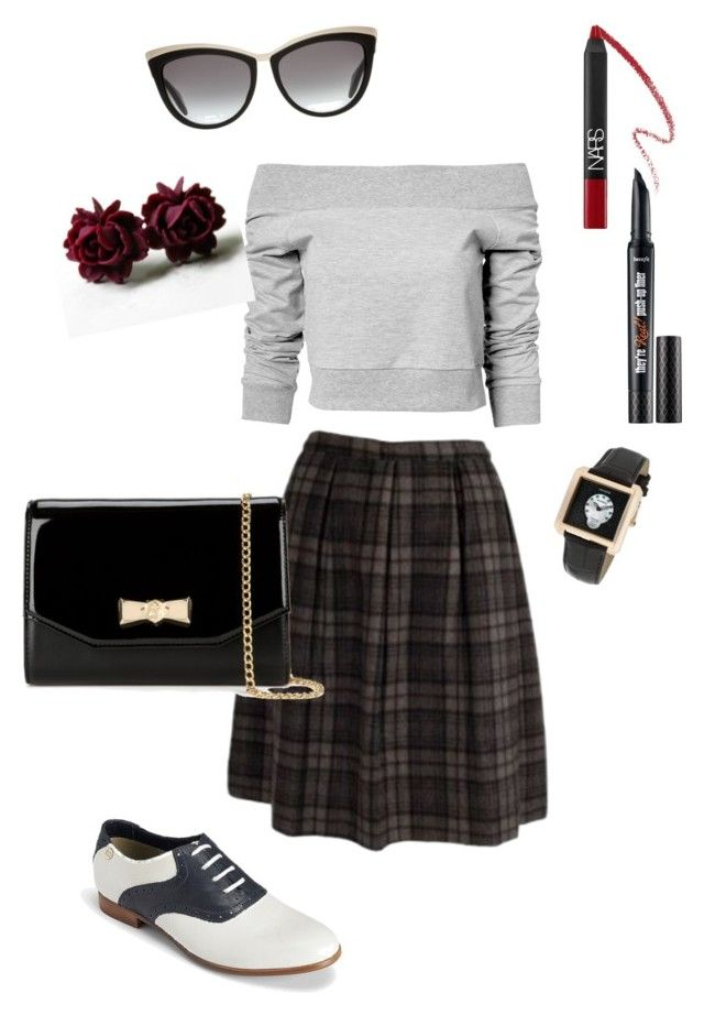 Inspired by Twin Peaks: Audrey Horne by klatubaradanicto on Polyvore featuring Estradeur, Tommy Hilfiger, Ted Baker, Lancaster Italy, Alexander McQueen, Benefit, NARS Cosmetics, twinpeaks and AudreyHorne