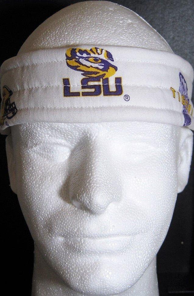Louisiana LSU White Ultimate SweatbandHeadband