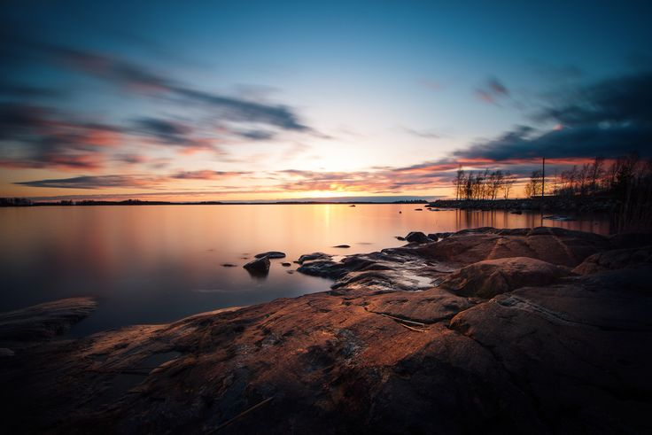 Amazing sunset in Vaasa, Finland. Looks like summer is coming after all.