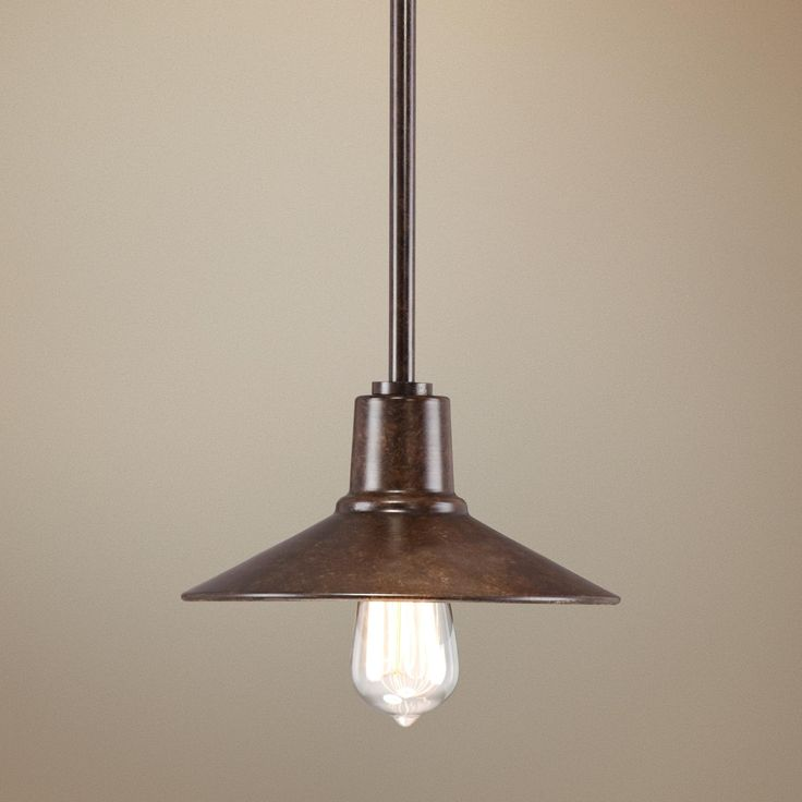 "Industrial Mini Pendant Light: Warm Bronze 9"" Wide Edison Industrial Mini Pendant Light"