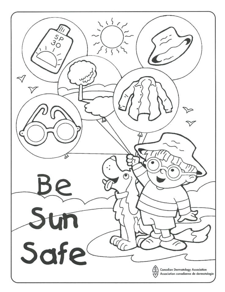 coloring for kidsnet demonstrates good sun safe lesson to