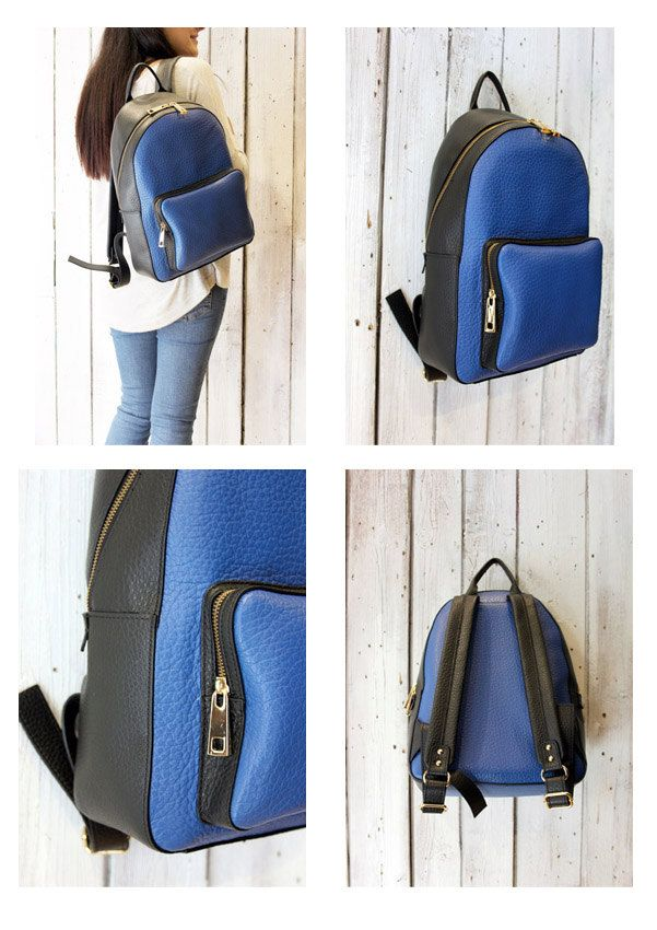 Giò Giò 3 , Leather BackPack, handmade in Italy di LaSellerieLimited su Etsy