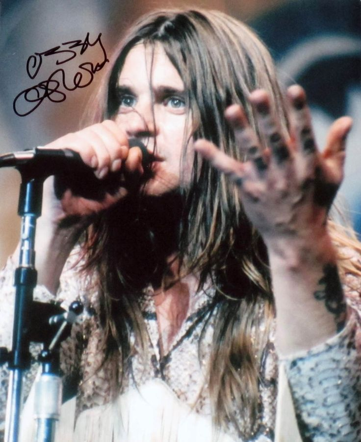 Black Sabbath's Ozzy Osbourne, with suitably shaky autograph