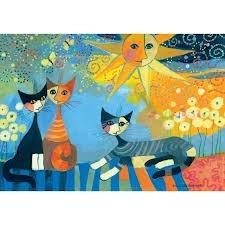 katten onder de zon