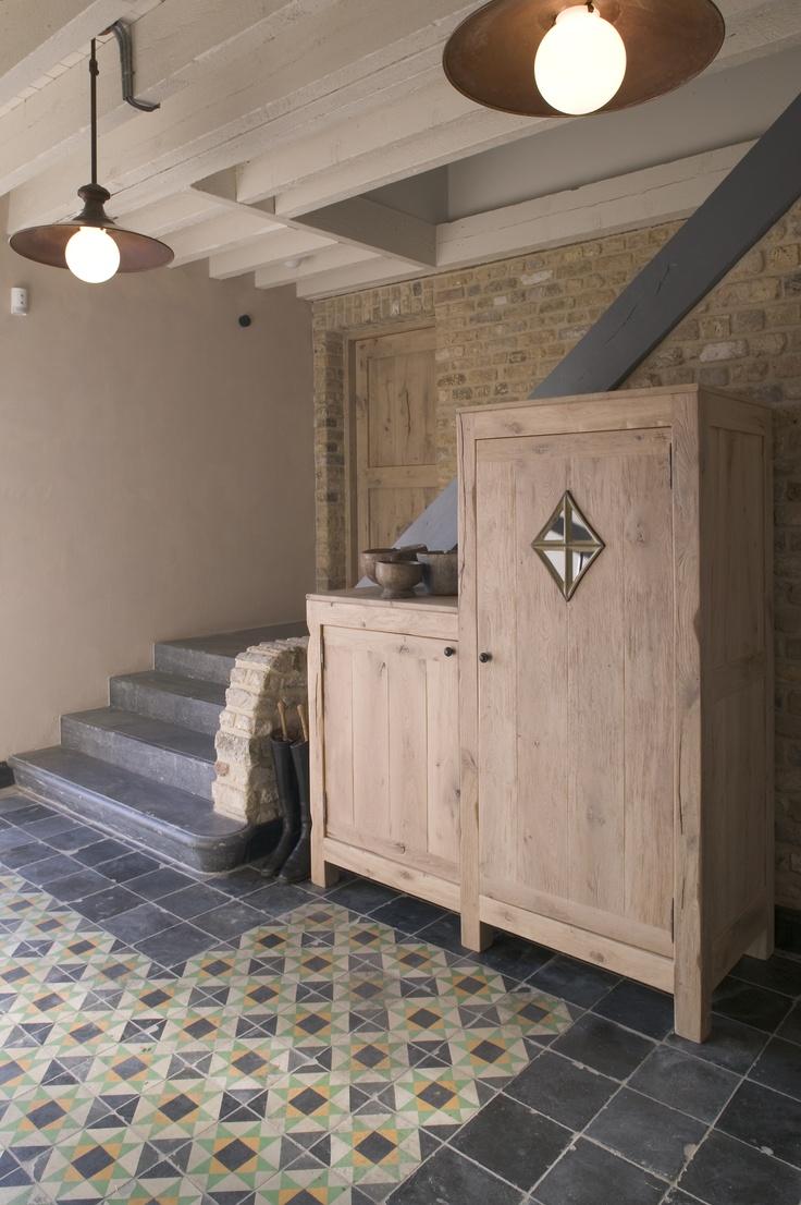 stair in Belgian blue stone project DC www.dirkcousaert.be