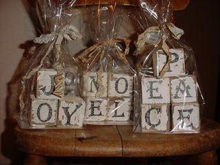 cute idea for wood blocks