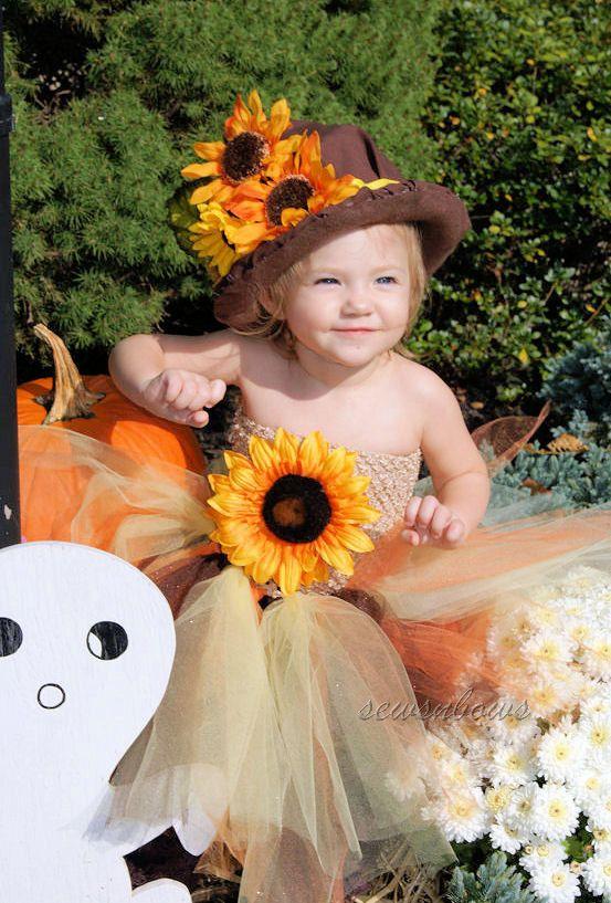 Scarecrow tutu-- Scarecrow Halloween Costume-- Scarecrow Halloween Tutu-- Scarecrow hat