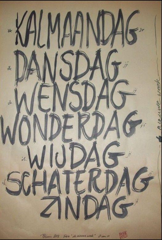 Wat mooi bedacht! de nieuwe week Door beeldend kunstenaar Bruin van der Duim