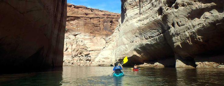 | Enjoy kayaking in Lake Powell with our friendly kayak tour or kayak rental. Page, Arizona.