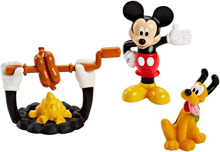 Disney Silly Grillin' Mickey Mouse Pluto Figures Playset