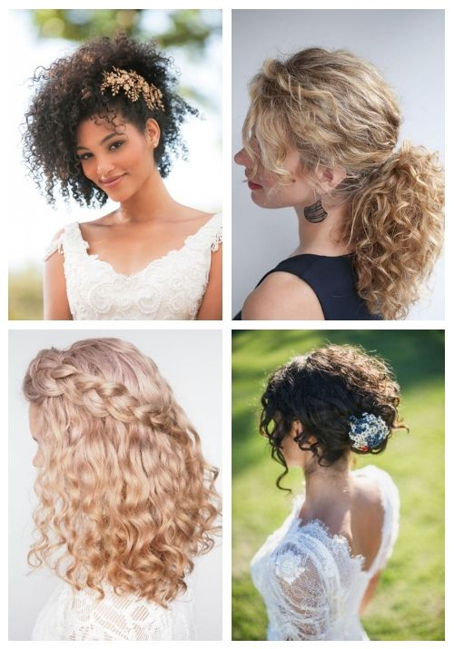 24 Wedding Hairstyles For Naturally Curly Hair Curly Wedding Hair Curly Hair Styles Naturally Natural Hair Styles
