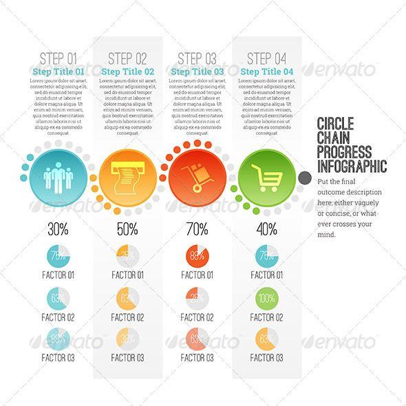 Circle Chain Progress Infographic - Infographics