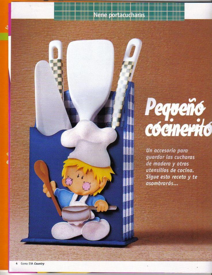 Manualidades para la cocina en goma eva - Revistas de manualidades Gratis