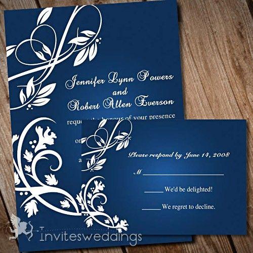 48 best blue wedding invitations images on pinterest invitations blue wedding invitations stopboris Choice Image