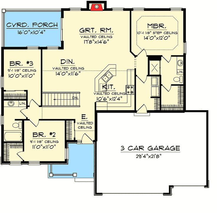 215 best 1500 sq ft lake plans open images on pinterest for 1500 sq ft craftsman house plans